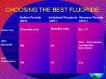 choosing the best fluoride
