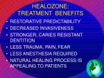 healozone treatment benefits