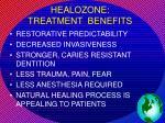 healozone treatment benefits