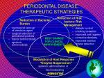 periodontal disease therapeutic strategies