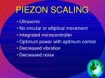 piezon scaling