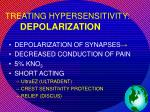 treating hypersensitivity depolarization