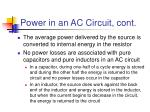 power in an ac circuit cont