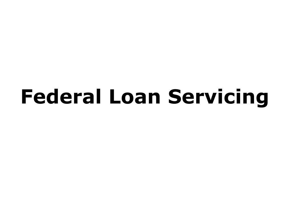 federal loan servicing l.