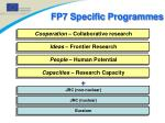 fp7 specific programmes