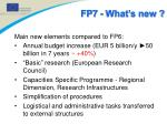 fp7 what s new