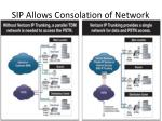 sip allows consolation of network