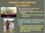 french and british colonists