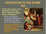 opposition to the stamp tax