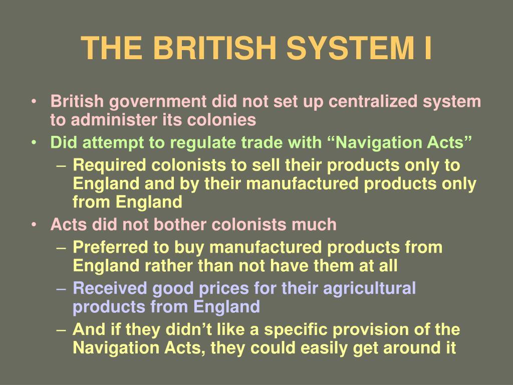 the british system i l.