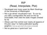rip read interpolate plot