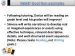 smart goal non examples