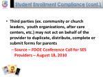 student enrollment compliance cont38