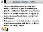 student records ferpa