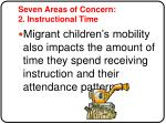 seven areas of concern 2 instructional time