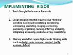 implementing rigor