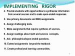 implementing rigor17