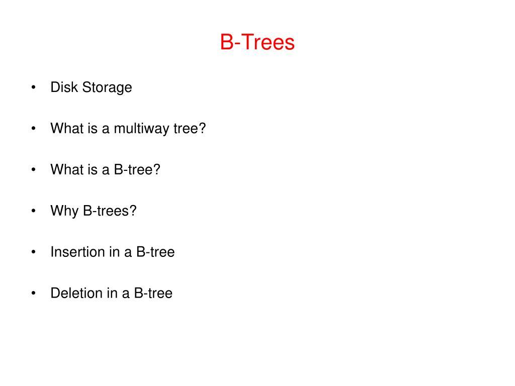 b trees l.