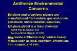 antifreeze environmental concerns