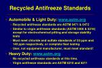 recycled antifreeze standards