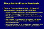 recycled antifreeze standards8