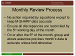 monthly review process