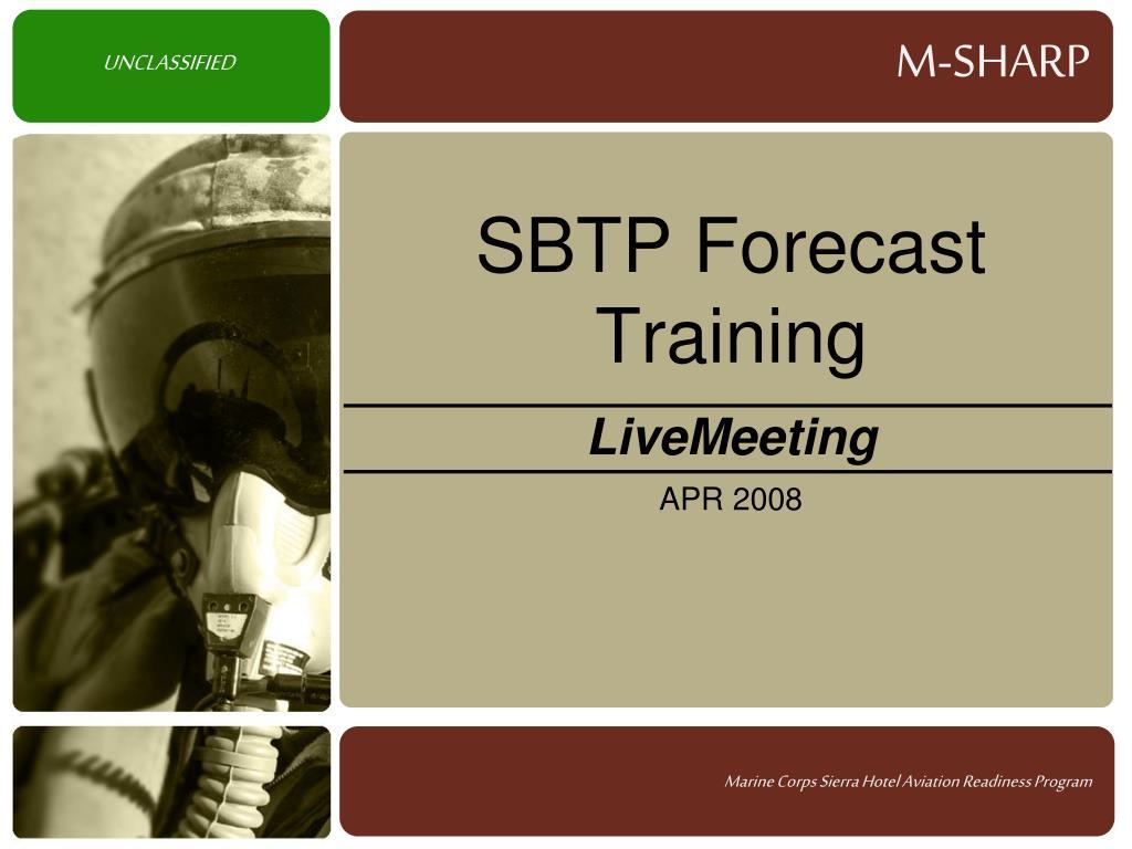 sbtp forecast training l.