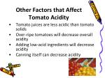 other factors that affect tomato acidity