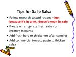 tips for safe salsa
