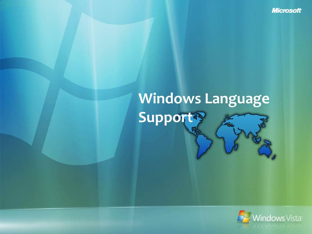 windows language support l.