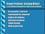 group problem solving model a conceptual framework for addressing problems