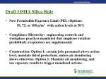 draft osha silica rule