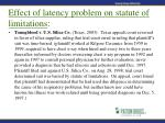 effect of latency problem on statute of limitations23