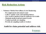 risk reduction actions47