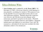 silica defense wins19