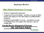 silica related insurance coverage