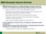 mma renewable ventures overview