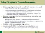 policy principles to promote renewables