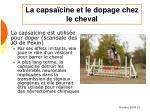 la capsa cine et le dopage chez le cheval