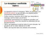 le r cepteur vanillo de trpv1