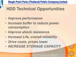 hdd technical opportunities