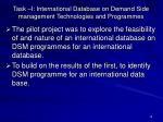 task i international database on demand side management technologies and programmes