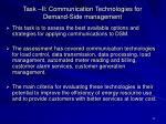 task ii communication technologies for demand side management