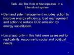 task ix the role of municipalities in a liberalized system