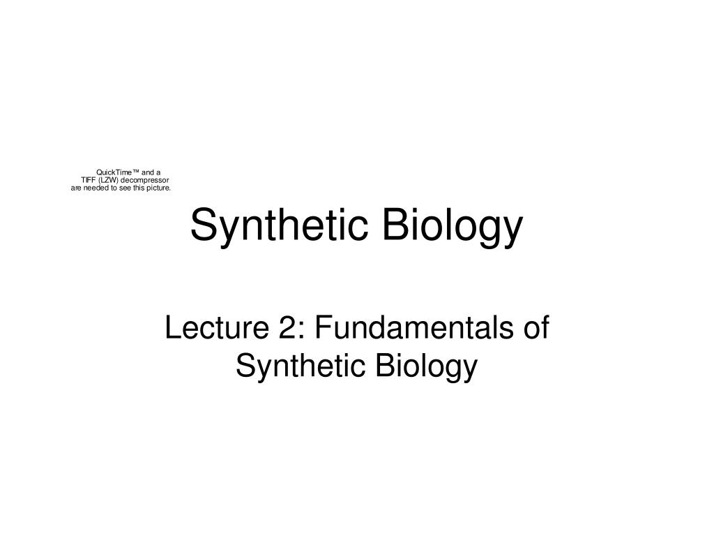 synthetic biology l.