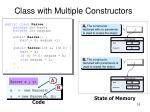 class with multiple constructors