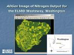 adgen image of nitrogen output for the el68d wasteway washington