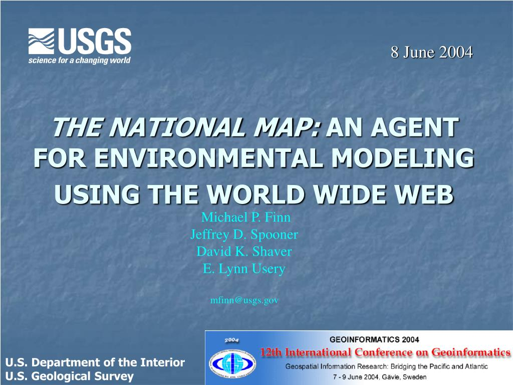 the national map an agent for environmental modeling using the world wide web l.