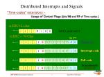 distributed interrupts and signals