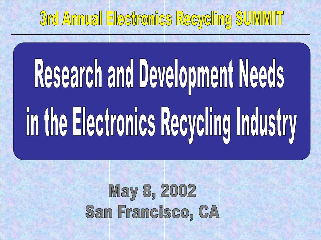 3rd Annual Electronics Recycling SUMMIT